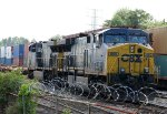 CSX 660 & 639 sit in the intermodal yard