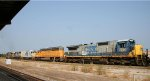 CSX 7530 is the last of 5 locos headed south out of the yard