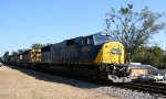 CSX 8762 leads a variety of locos southbound on train Q491
