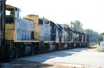 CSX 1188 is the last loco in a long string of locos on CSX train Q491