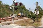 CSX 4812 leads a coal train onto the Cross Sub. @ Cross Jct.