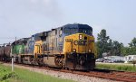 CSX 628 leads a northbound train past MP A 328 (Bynum)