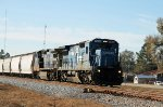 CSX 7493 leads a train northbound