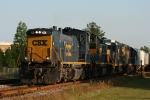 CSX 1150 leads train Y321 back to the yard