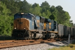 CSX 4721 leads train U303 south past mp 344
