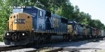 CSX 8753 leads a variety of units on train Q494
