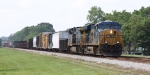 CSX 5451leads train Q491 towards Bennett Yard