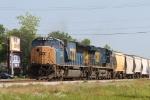 CSX 4706 leads train Q492-02 out of Bennett Yard