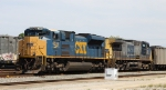 CSX 4839 & 63 hold down a coal train in the yard