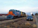 Bronco train, meet vandal car!