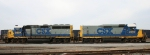 CSX 6904 & mate 2250 idle in the yard