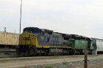 CSX 7344 & 6297 prepare to take a train southbound