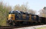 CSX 2625 & 6396 lead train F713 northbound