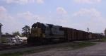 CSX 8569 leads a train northbound