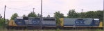 CSX 6411 & 2341 sit in the yard