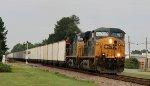 CSX 808 & 470 lead an empty coal train northbound