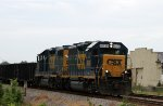 CSX 6039 leads train F713-23 northbound