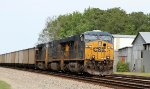 CSX 741 is on the point of an empty coal train