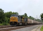 CSX 414 leads train G673-02 past the new signals at YD