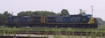 CSX 237 & 159 sit in the yard