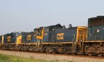 CSX 1115 & 1204 head north on train Q400