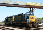 CSX 2276 poses under the walkway at the yard tower