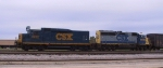 CSX 2232 & 6489 work the yard