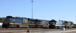 CSX 863 is one of 3 different models of GE units posed in the yard