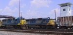 CSX 8249 & 6117 are hanging out at the yard tower