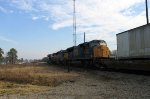 CSX 4707 is the last of 3 CSX units leading an intermodal train northbound