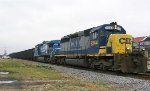 CSX 8244 & 7389 lead an empty coal train southbound
