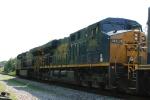 CSX 5496 trails another unit on train Q408
