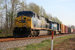 CSX 619 & 8812 lead a train southbound