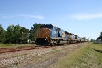 CSX 8730 & 228 lead a train southbound
