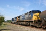 CSX 8730 & 228 prepare to diverge onto the Wilmington Sub