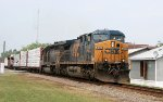 CSX 5106 leads a mixed freight