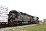 HLCX 9046 & 5106 lead a CSX train
