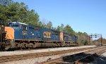 CSX 4714 & 4771 lead an empty coal train northbound