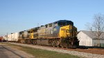 CSX 645 & 5002 lead train Q740, the Juice Train, northbound