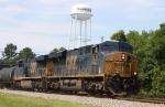 CSX 822 & 713 lead train Q438 northbound