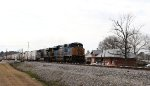 CSX 4836 leads train Q740-01 past the relocated former station