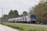 AMTK 188 leads train 80 northbound past mp 125