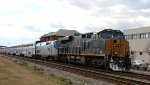 CSX 3016 & AMTK 155 lead train P052 northbound after a lengthy delay