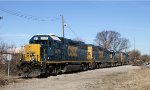 CSX 2677 & 2703 sit near the turntable on New Years Day