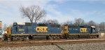CSX 6097 & 2573 work on train F729