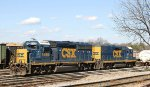 CSX 6495 & 2281 sit in the yard