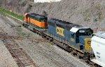 HLCX 7843 leads train F741 across Boylan Jct