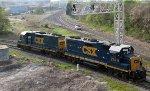CSX 2723 & 2749 lead train X091 towards the yard