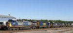 CSX 24 sits with many other units in the yard