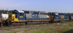 CSX 8421 is in the yard
